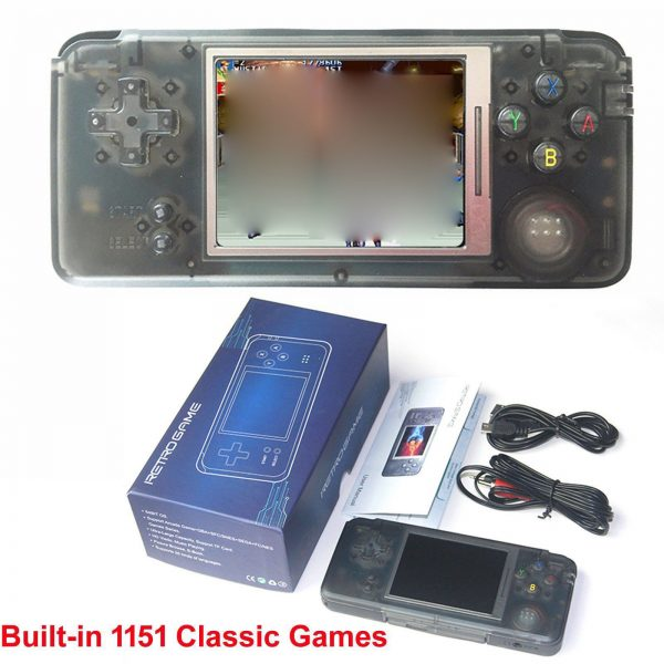 64bit Handheld Retro Video Game Console Portable w/ 1151 Classic Games