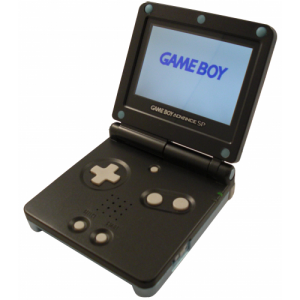 black backlit Game Boy advance