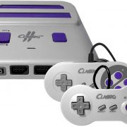 Old Skool Classiq 2 HD 720p Twin Video Game System, Grey/Purple for SNES/NES Nintendo and Super Nintendo