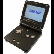 black backlit Game Boy advance